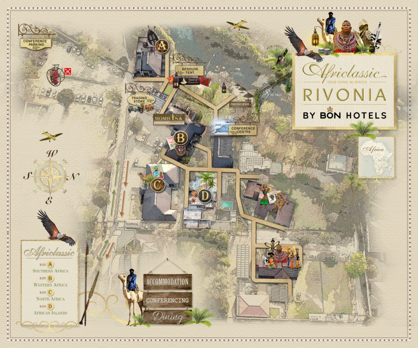 Africlassic Rivonia by BON Hotels Aerial Map